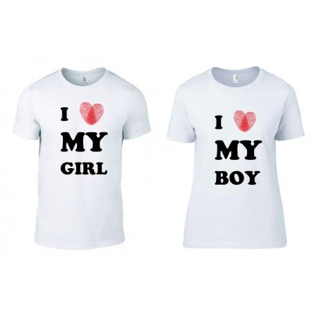 Комплект тениски  I Love