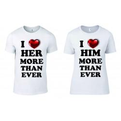 Комплект тениски I Love Her/Him