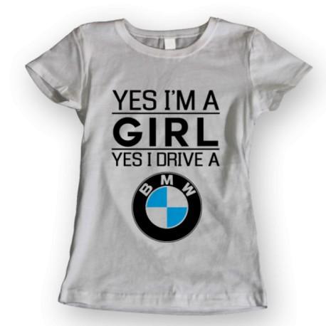 Тениска GIRL DRIVE BMW