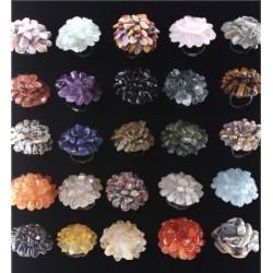 Пръстени Цвете /естествени камъни