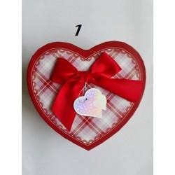 Кутии Сърце за бижута или друго / средни