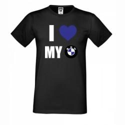 Тениска I Love My BMW
