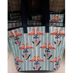 Лятна / Плажна чанта Фламинго