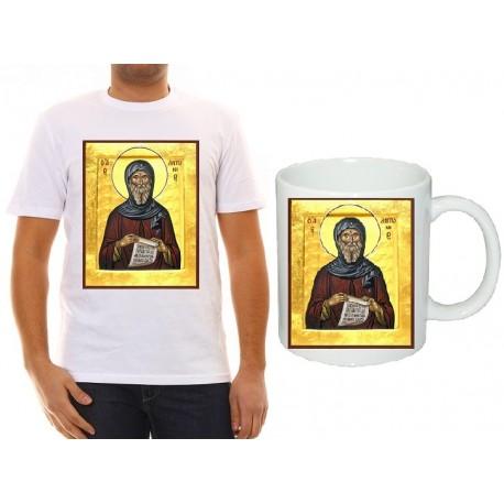"Комплект тениска и чаша с икона ""Свети Антоний"""