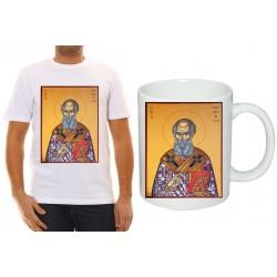 "Комплект тениска и чаша с икона ""Свети Атанасий"""