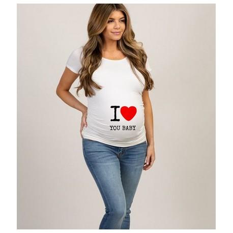 """Тениска """"I love you baby""""/ """"Обичам те бебе"""""""