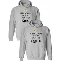 "Комплект суичъри ""Keep Calm... King Queen"""