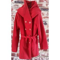 """Елегантно дамско палто """"Червена красота"""""""